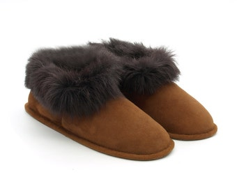 Genuine Sheepskin Slippers vegetable tanned 35 to 45