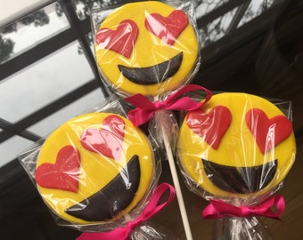 Emoji Cookie Pops, Cookie Favors, Kids Party Favors