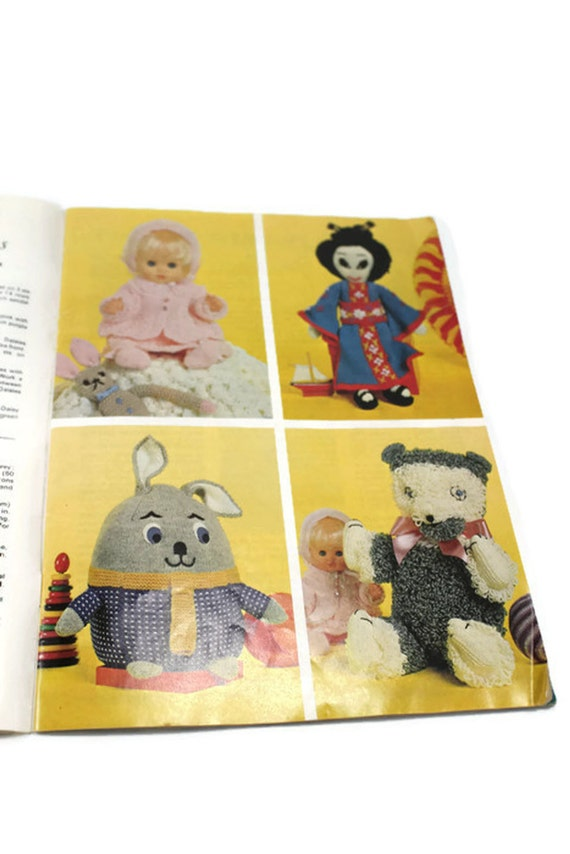 Patons Knitting Patterns Toys : Vintage Knitting Toy Rabbit Pattern Patons Knitting Book ...