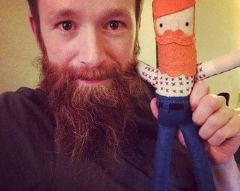 Custom Felt Doll by The Beard and The Boobs