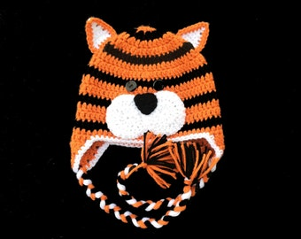 Tiger Animal Baby Hat Cincinnati Bengals Winter Hat Kids Adult
