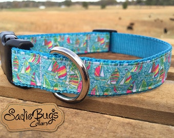 Sailboat Dog Collar - Nautical Dog Collar