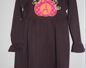 Girl's Long Sleeve Empire Waist Ruffle Dress