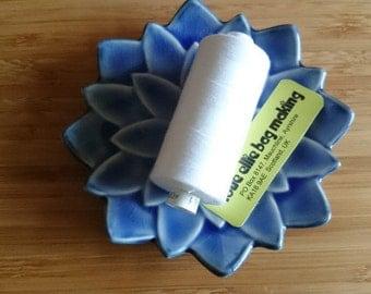 SEWING THREAD White Moon polyester thread - 1 spool - All Purpose Sewing Thread - Coats Moon Thread - Colour - White