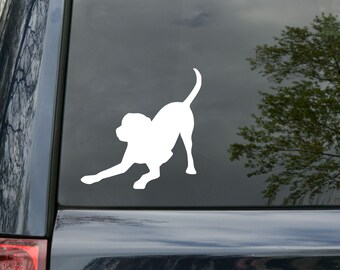 "Labrador Retriever Dog Yellow Black Lab Vinyl Decal Sticker 4.5"" x 4.5"" playful *Free Shipping*"