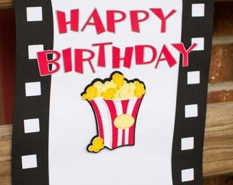 Movie Birthday Door Sign, Movie Decorations