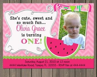 watermelon birthday invitation   etsy, Birthday invitations