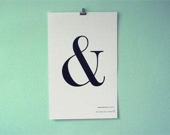 Ampersand 11x17 Poster Print