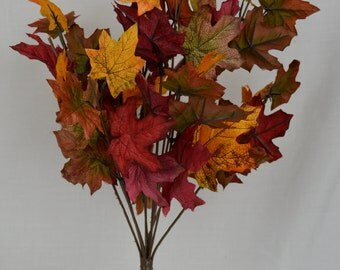 "18"" Fall Maple Leaf Bush(lot of 3)"