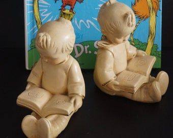Vintage, Chalk Ware Coventry Child Bookends