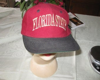 Vtg Flordia State The Game Snap Back Seminoles hat Red wool free ship
