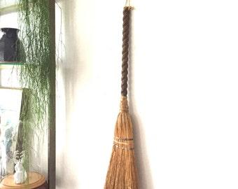 Antique Primitive Hearth Broom