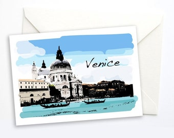Venice Italy Notecard, Travel Greeting Card, Greeeting Card, Blank Notecard, Blank card, Italy, travel gift, 5x7 card