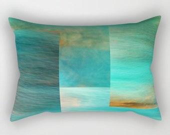 Rectangular Pillow - Fantasy Ocean Collage - Small Medium Large XLarge - photography blue abstract sea ocean