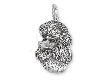 Poodle Charm Handmade Sterling Silver Dog Jewelry NC1-C