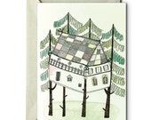 My life in a Tree House IV - Greeting Card