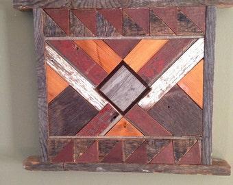 Rustic barn board wall decor- BARN BOARD QUILT- custom made- country quilt decor
