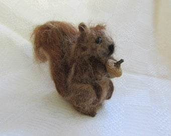 Red Squirrel  -  Needle Felted