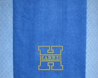 Extra Large Bath Towel - XL Monogrammed Bath Towel for  College Students  - XL Shower Towel for College - XL Dorm Bath Towel