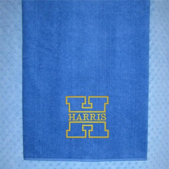 Extra Large Bath Towel XL Monogrammed Bath Towel For