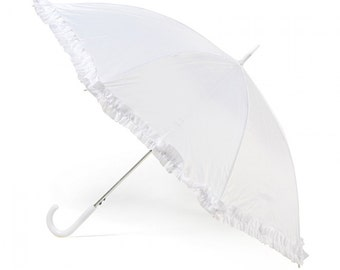 Vintage Style White or Cream Wedding Umbrella