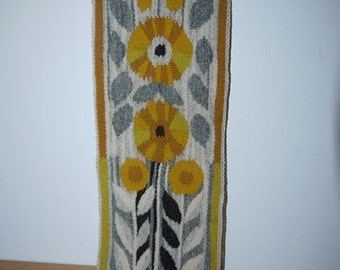 Tapestry - Flemish Weaving - Sweden - Beautiful colors - Flower - Sunflower - RETRO
