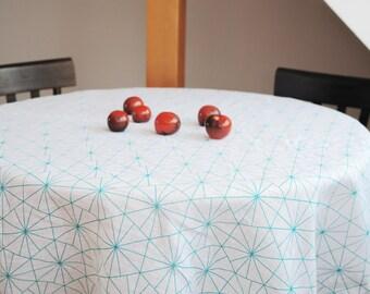 Linen Tablecloth Linen Table Runner Geometric Tablecloth Geometric Table  Runner Scandinavian Fabric