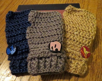 Up and Down Fingerless Mittens