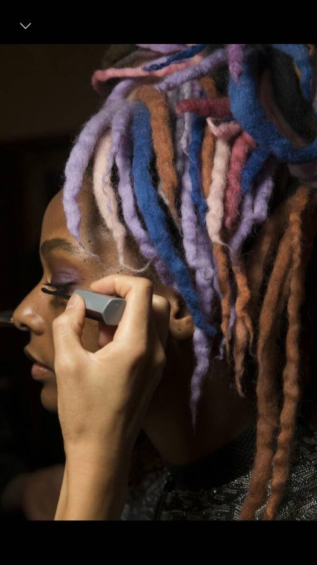 Marc Jacobs Fashion Show Custom Wool Dreads Handmade Hair Extensions