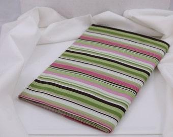 OOAK #739 - 32 x 44 - Cream, Pink, Brown, Green Stripe Fabric