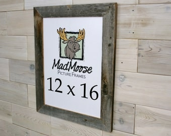 12x16 barnwood thin x 2 picture frame