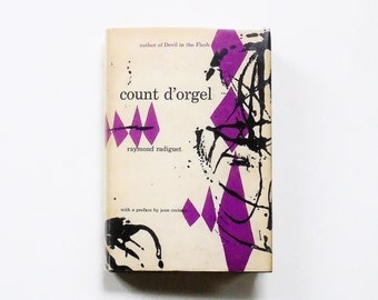 Count D'Orgel by Raymond Radiguet (Preface by Jean Cocteau) 1953 Grove Press Roy Kuhlman Jacket Design 1st Edition French Literature Book