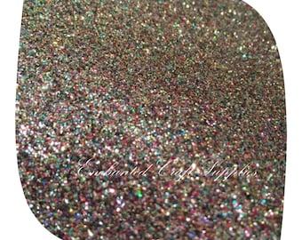 Rainbow FINE Glitter fabric sheet