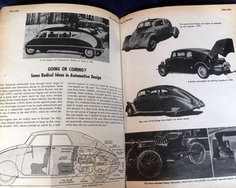 Vintage Car Book, 1953 Pictorial History of the Automobile by Philip Van Doren Stern