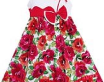 Little Girls' Floral Summer Dress