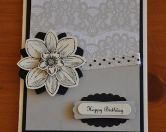 Select a Greeting - Night Flower, greeting cards sayings, birthday card, thinking of you card, thank you card, get well soon card, handmade