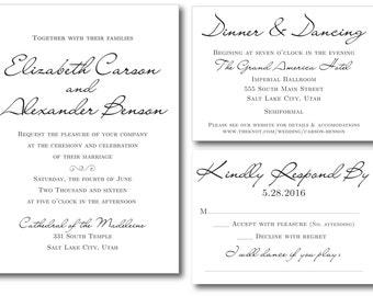 MY ELEGANT Printable Wedding Invitation