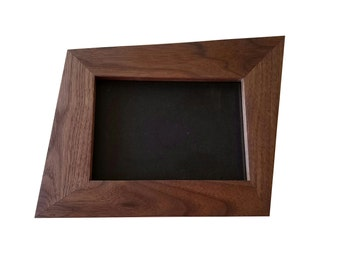 Walnut Trapezoid Picture Frames With Glass & Backing