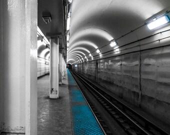Into the Dark - Chicago - Cityscape - Street Photography - HDR - Fine Art - Urban Art - Illinois - Prints