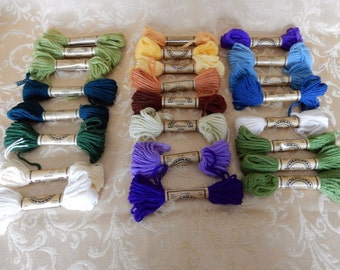 Needlepoint Wool 24 Hanks Paternayan Persian Crewel Embroidery Mixed Lot