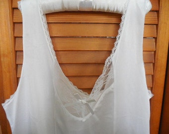 White lace lingerie white lace cami lace camisole white camisole satin lingerie satin camisole large up to 38""