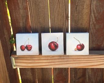 Original Cherry Painting Trio