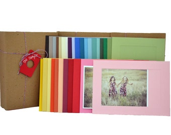 Photo Insert Note Cards, 30 card Sampler - 100% recycled & made in the USA
