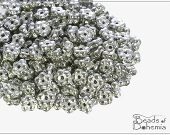 100 pcs Crystal Labrador Full Czech Forget-me-not Flower Beads 5 mm (10757)
