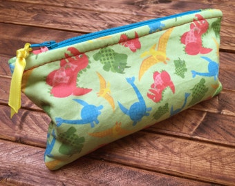 Patterned Zipper Pouches - Dinos