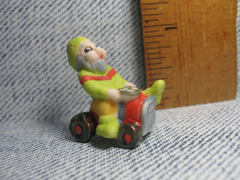 Gnome 4: SUMMER GNOME On Mower Drawf Elf Elves DWARVES Garden