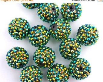ON SALE Chunky Gemstone Bead-Forest Set of 13