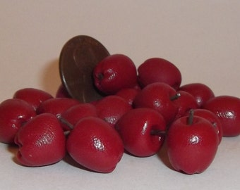 Miniature Dollhouse Realistic ONE Red Delicious Apple Fruit Foods 1:12 #2004