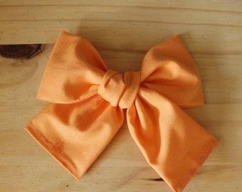 Big Big pumpkin latte bow (headband or clip)