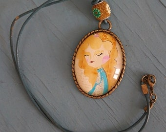Princess Marmalade illustrated cameo - Cameo with drawing